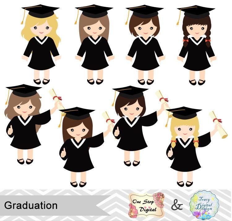 Art Girls Virtual Preschool: Instant Download Graduation Boys Clipart, Boys Graduate