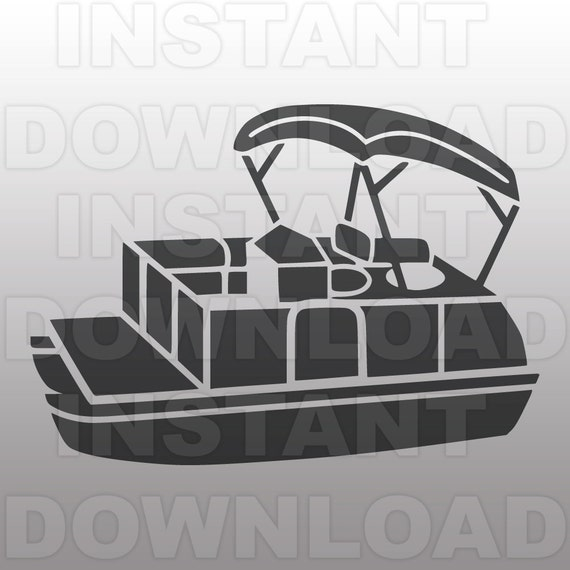 Relatively Pontoon Boat SVG File - Boat SVG File-Vector Clip Art for  CF29