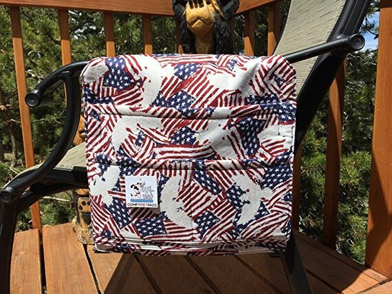 Walker Bag, American Flag, Chair Caddy, Patriotic Walker Bag, 4 of July Gifts, Size 13x13x27