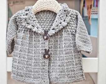 Crochet PATTERN  - Baby (Toddler) Jacket