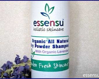 Organic Dry Powder Lavender Waterless Volumizing Shampoo | All Natural | Refreshes | All Hair Types | Vegan , No Gluten , No Talc - 2.5 oz