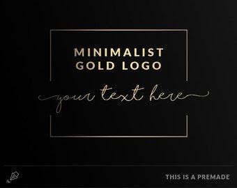 Minimalist Logo - Premade Logo / Blogger Header Design / Premade Blog Header / Gold logo / Minimal golden logo