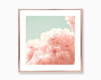 Wall art canvas, canvas wall art, canvas art, spring decor, large wall art, framed wall art, cherry blossom art, blush pink wall art, flower