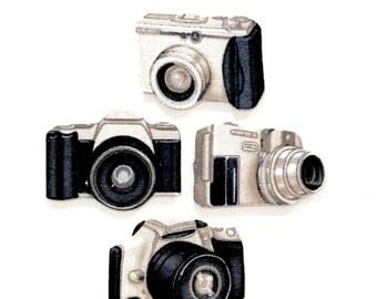 CAMERA MAGNETS, Set of 4, Cameras, Vintage Camera, Photography, Photographer, Camera Decor, photography gifts, photographer gifts, Photos