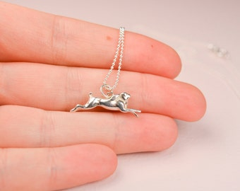 Handmade Sterling Silver Necklace With Hare Charm