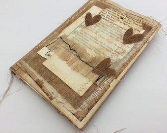 A5 Shabby Scrappy Journal, Junk Journal, Tea Dye Journal, Mini Album, Photo Album, Vintage Journal,