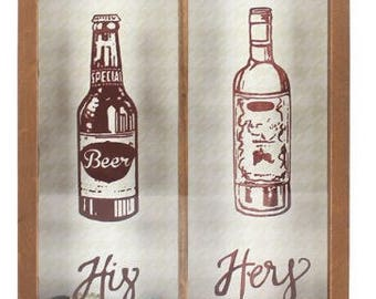 His and hers bottle collected frame
