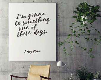 Patsy Cline Lyric - Digital Print