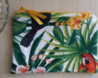Tropical yellow inner pouch