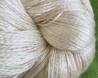 LACE Undyed Yarn, Silk Bamboo Lace Yarn, Silk Bamboo Gossamer Yarn, Cobweb Yarn, Bamboo Yarn, Silk Yarn