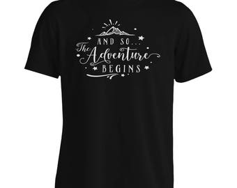 And So The Adventure Begins Men's T-Shirt j245m