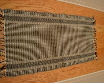 """Amish Handmade Rag Rug Hand Loomed 48""""x 25"""""""