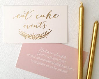 250 Gold Foil Business Cards