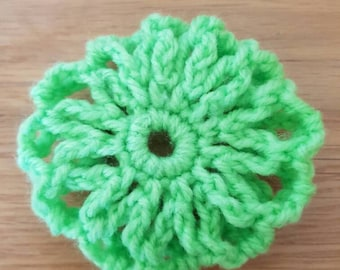 Hand crochet hair bun covers