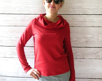 Turtleneck Sweater red, red golf,
