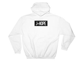 BTS Bangtan Boys TEAM J-Hope Name Tag Hooded Sweatshirt