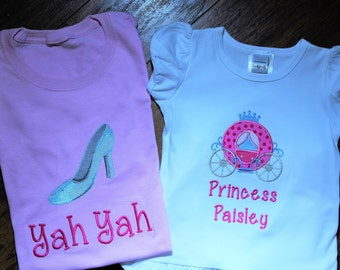 Princess Carriage, Princess shirt, disney shirt, tshirt, t shirt, t-shirt, Cinderella, Pink, ruffle pants, Mommy and me, Mom disney shirt