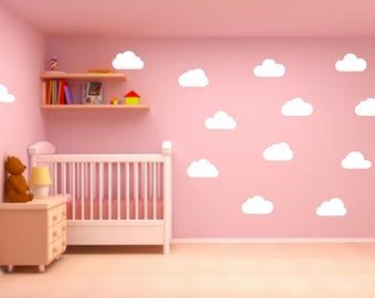 14 x Cute cloud vinyl sticker decals PG20