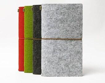 Felt Journal Midori Traveler's Notebook - Refillable