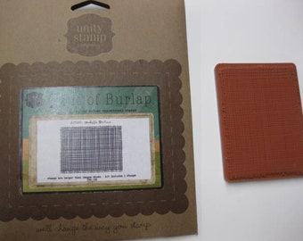 Unity Unmounted Rubber Stamp - A Bit of Burlap