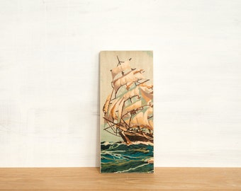 Paint by Number Art Block 'High Seas' - sailing, tall ship, marine art, vintage seascape