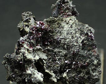 Red 'Ruby Silver' Proustite Crystals, Morocco - Mineral Specimen for Sale