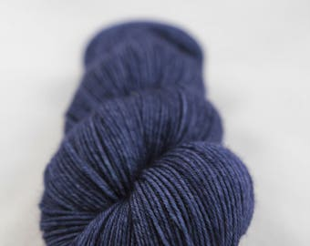 Hand-dyed yarn - sock yarn - superwash - merino - dyed-to-order - DARK
