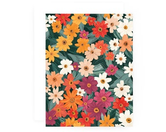Meadow Notecard Set of 8, Illustrated Floral Everyday Note Cards Set