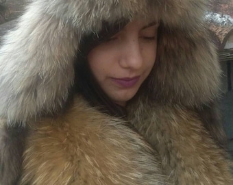 Super MODERN!New,natural,Real Raccoon and leather Fur hat!