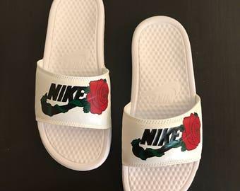 Rose Full of Thorns | Nike Slides