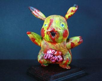 Custom Zombie Pikachu Figure by Kodykoala