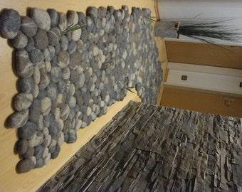 felt carpet supersoft pebbles - felt stone carpet, wool from sheep, lama, alpaka