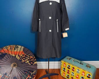 Vintage Jolee All Weather Top Coat | MOD | Junior Petite | Deadstock with Tags