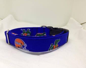 Gators - Custom Handmade Dog Collar, College Football, Florida, FL, Multiple Options