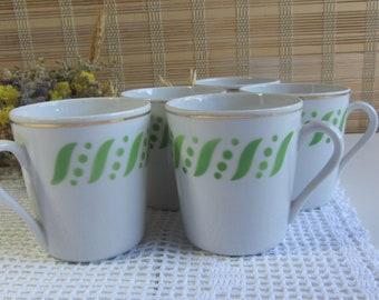 Soviet vintage cups Vintage cups Set of 6 tea cups Soviet porcelain cups Kitchen decor Vintage dishes