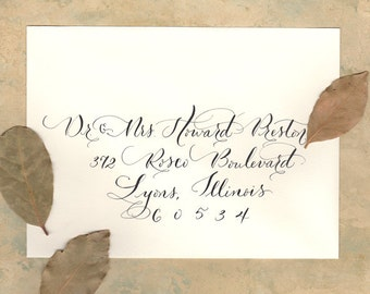 Wedding addressing envelope calligraphy