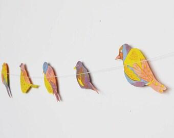 Garden Bird Garland
