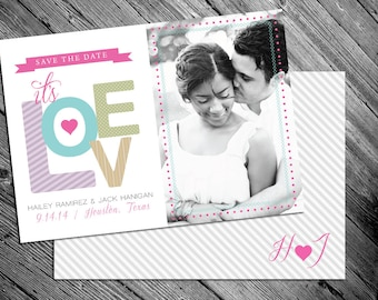 Colorful Save The Date Photo Card