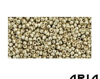 METALLIC ALUMINUM (PF558): 15/o Toho Japanese Seed Beads (10 grams)
