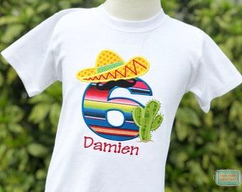 Personalized Fiesta Sombrero Birthday Shirt