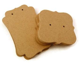 Kraft Earring Cards - Jewelry Card Set - Jewelry Cards - 35 Count -  Earring Hang Tags - Kraft Earring Cards - Kraft Jewelry Cards