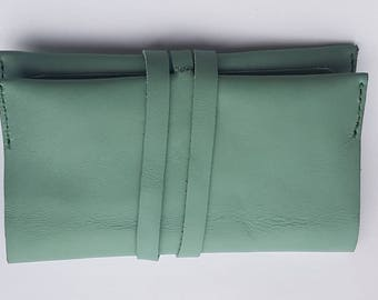Leather Roll Tobacco Pouch