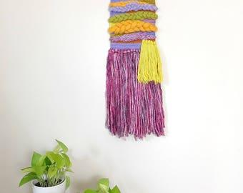 Weaving Wall Hanging, Yarn Wall Hanging, Jungalow Style, Woven Wall Decor, Colorful Wall Art, Wall Hanging Woven, Textile Wall Hanging