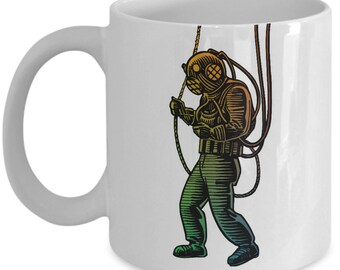 Deep Sea Diver Mug - Diving Gift for Friend - Novelty Tea Cup