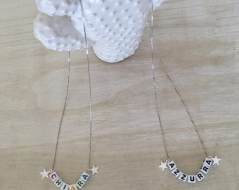Necklace with customizable letters-Silver 925