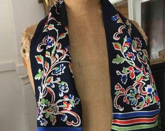 Printed Silk scarf, 1920's