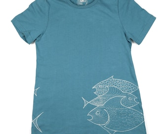 Three Fish: ORGANIC Cotton American Apparel Ladies Tee
