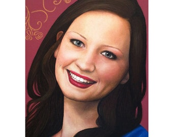 True Beauty - Tasha Rissling - ART PRINT - 8 x 10 - By Toronto Portrait Artist Malinda Prudhomme