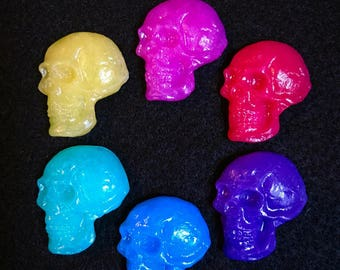 Rainbow Skull Magnets Set of 6