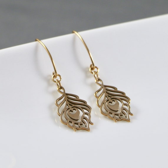 Ascension - Peacock Feather Earrings